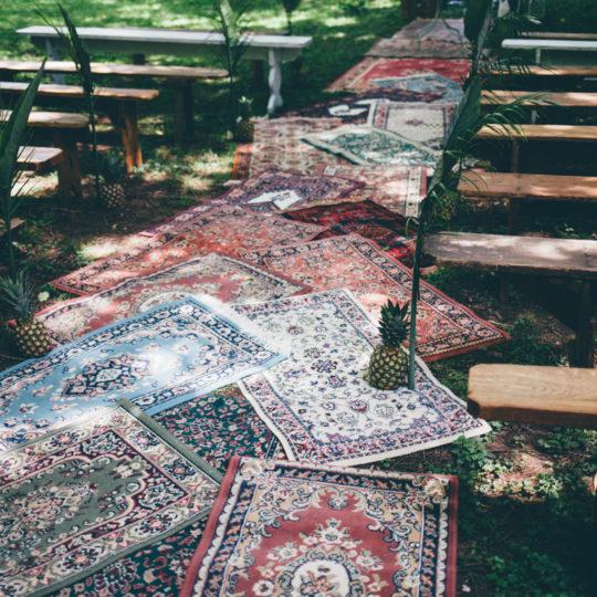 Allée de tapis