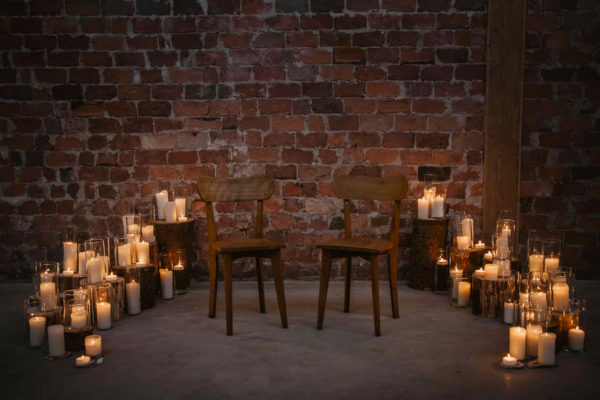 Arche en bougies