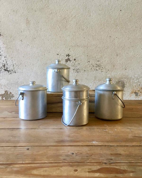 Lot de pots en zinc