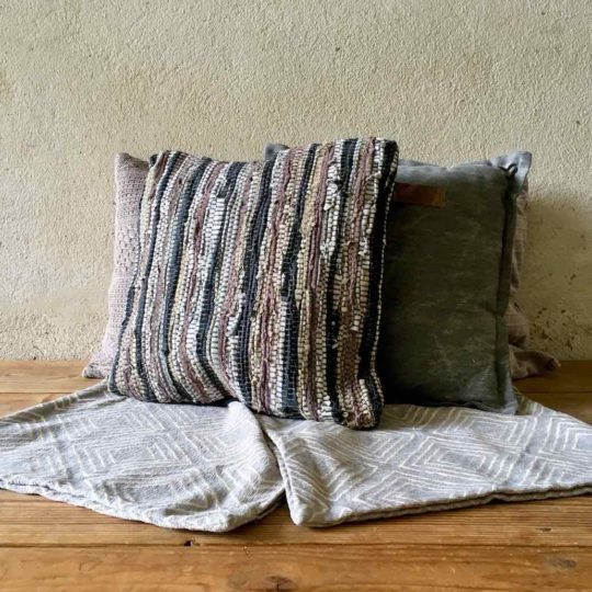 Coussin gris taupe