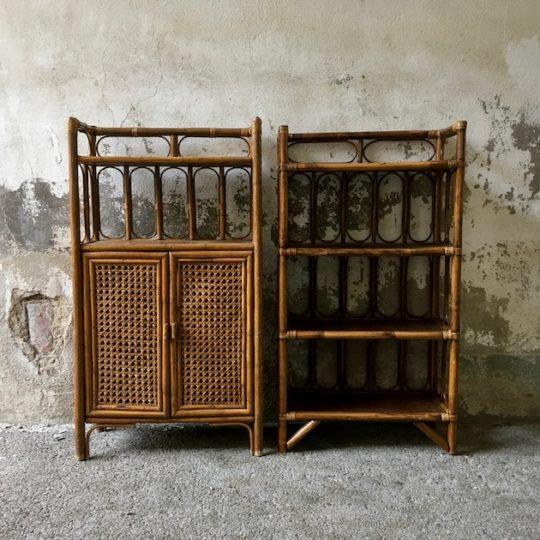 Duo d'étagères bambou