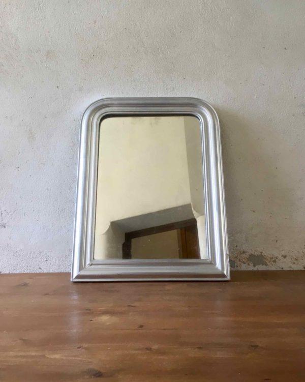 Miroir argenté petit modèle
