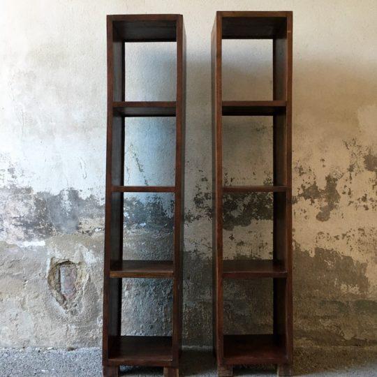 Duo d'étagères bois