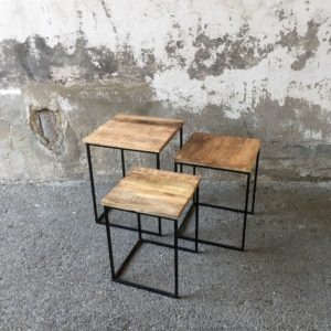 Trio de tables manguier