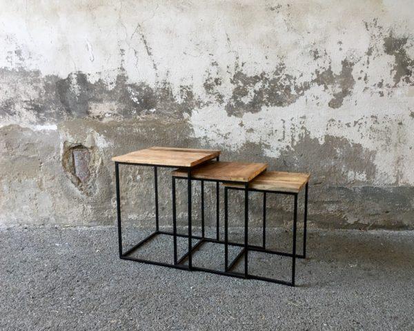 Trio de tables manguier