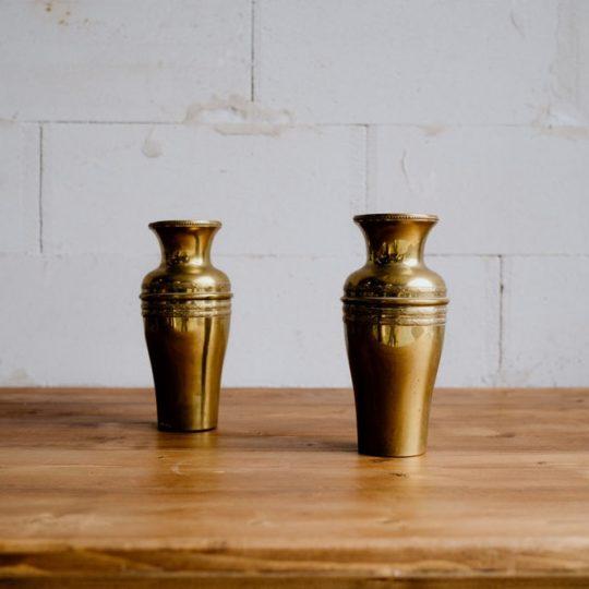 Duo de vases laiton